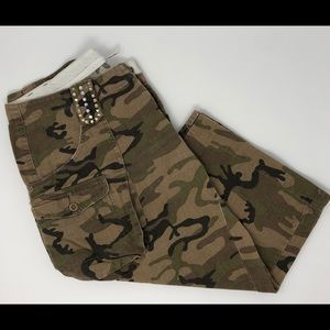 Joie Camo Cargo Shorts